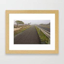 Misty Assateague Route Framed Art Print