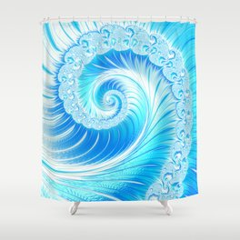 Frozen Vortex Shower Curtain