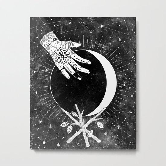 Waxing Crescent Metal Print