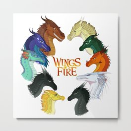 Wings Fire - All Together Metal Print