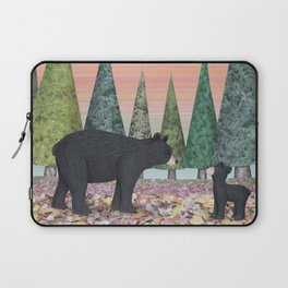 black bears & evergreens Laptop Sleeve