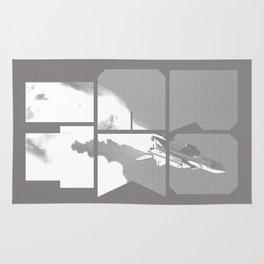 ROCKIT (White on Grey) Rug