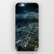 Night Flight out of Los Angeles Blue iPhone & iPod Skin