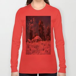 Winter in the village # 6 Long Sleeve T-shirt