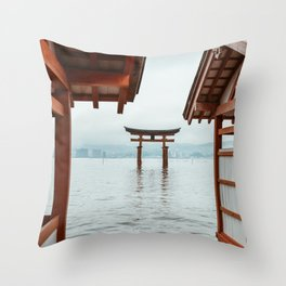 Itsukushima Shrine. Torii gate. Miyajima, Japan. Travel print - Photography wall art. Art print. Throw Pillow