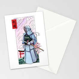 Kendoka watercolor in Japan! Stationery Cards