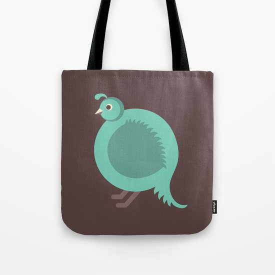 Letter Q // Animal Alphabet // Quail Monogram Tote Bag