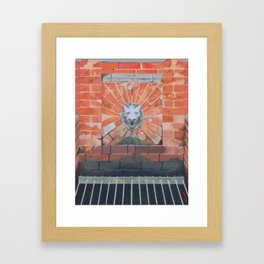 Lion's Head Fountain Framed Art Print