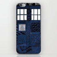 tardis iPhone & iPod Skins featuring Tardis by Rebecca Bear