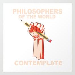 Philosophers of the world contemplate. Art Print