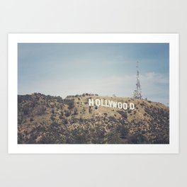 Hike to the Sign Art Print