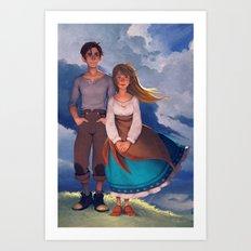 Molly & Théo Art Print