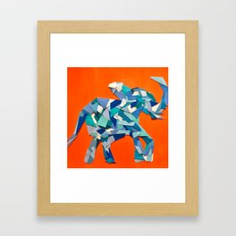 Elephant collage of paint samples Framed Art Print