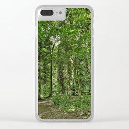 Woodland Walk Clear iPhone Case