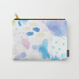 Pastel Watercolor Abstract Splatter Carry-All Pouch