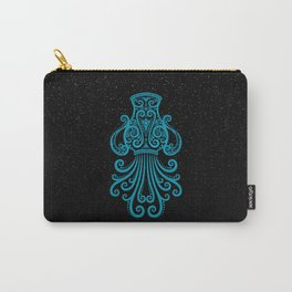 Blue Aquarius Zodiac Sign in the Stars Carry-All Pouch