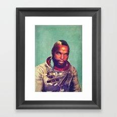 I ain't gettin on no rocket Framed Art Print