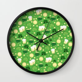 Saint Patrick's Party Wall Clock