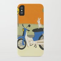motorbike iPhone & iPod Cases featuring motorbike by Valeria Cis