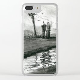 Ink and Carbon Pencil Clear iPhone Case