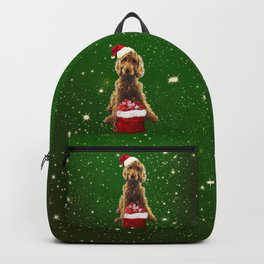 Christmas Dog Golden Doodle Backpack