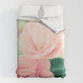 Joie de vivre - floral photography Comforters