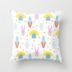 Happy Shroom light Throw Pillow