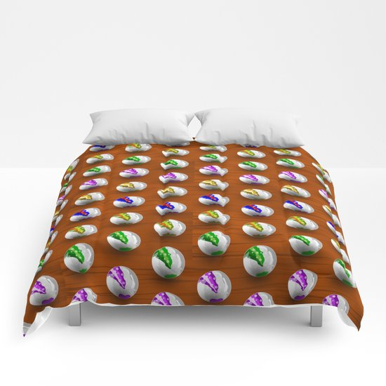Marbles on Wood Pattern Comforters