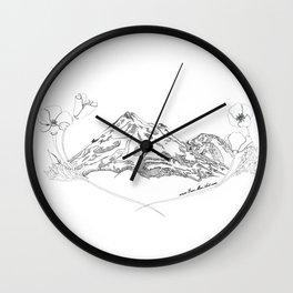 Shasta Poppies Wall Clock