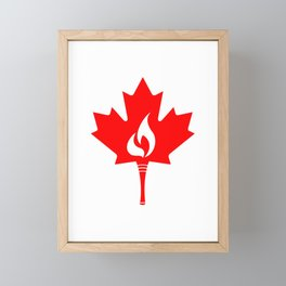 Canada Torch Framed Mini Art Print