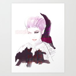 Ethno fashion illustration Art Print
