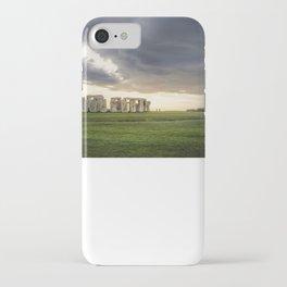Sunset on Stonehenge iPhone Case