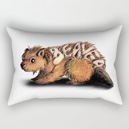 Animalphabet B | Beaver Rectangular Pillow
