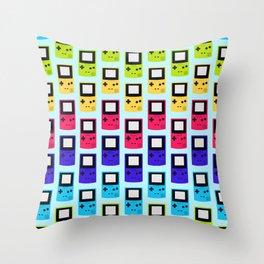 Rainbow Nostalgia Throw Pillow