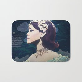 Rihanna as Japanese Deity Triptych (Tsukuyomi) Bath Mat
