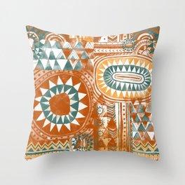 Tribal Bohemian Mosaic Throw Pillow