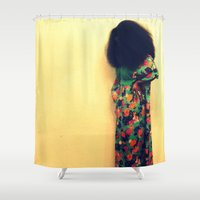 afro Shower Curtains featuring Afro by 2sweet4words Designs