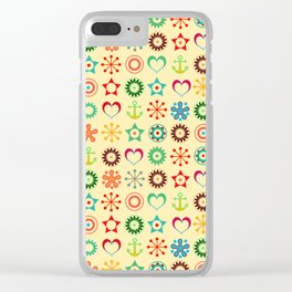 Solar marine pattern Clear iPhone Case