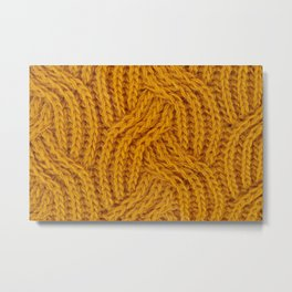 Knitted Yellow Metal Print