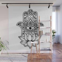Hamsa Lotus Wall Mural