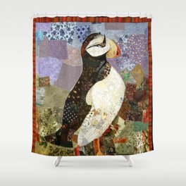 Fabric Puffin Shower Curtain