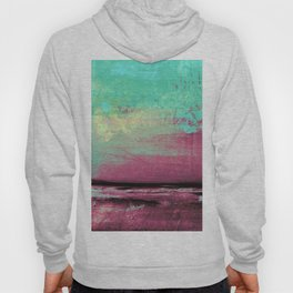 Green Color Patches Hoody