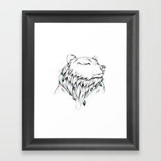 Poetic Bear Framed Art Print