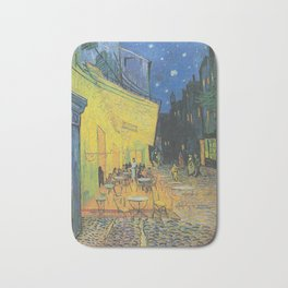Cafe Terrace on the Place du Forum - Vincent van Gogh Bath Mat