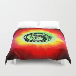 dragon flames Duvet Cover