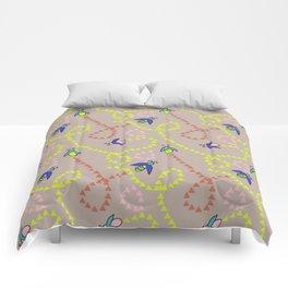 Whimsy Bugs beige Comforters