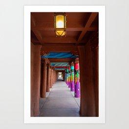 IAIA Museum Porch Santa Fe NM Art Print