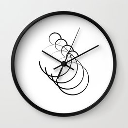 """ Eclipse Collection"" - Minimal Number Eight Print Wall Clock"