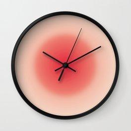 Roseball — red ball, illustration, ball, circle, shine, japan, asian art, geometric, love, summer Wall Clock