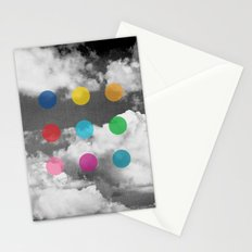 Storm Clouds + Colored Dots Stationery Cards